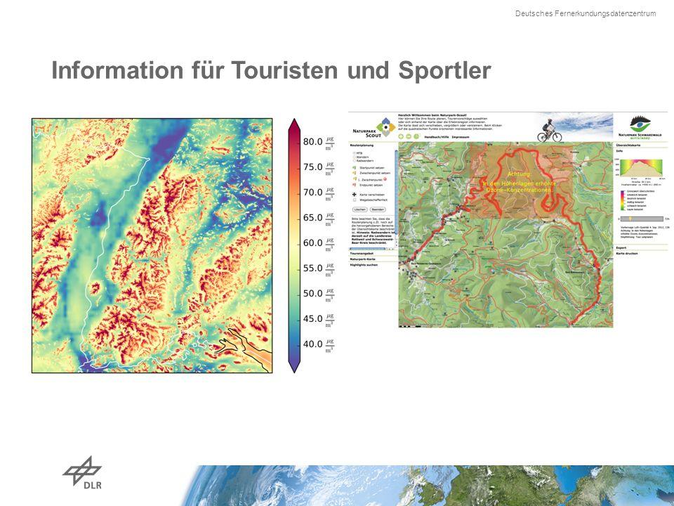 Deutsches Fernerkundungsdatenzentrum Information für Touristen und Sportler