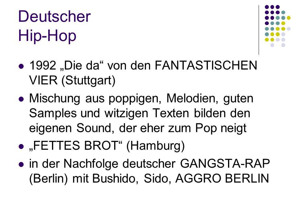 """Deutscher Hip-Hop 1992 """"Die da"""" von den FANTASTISCHEN VIER (Stuttgart) Mischung aus poppigen, Melodien, guten Samples und witzigen Texten bilden den e"""