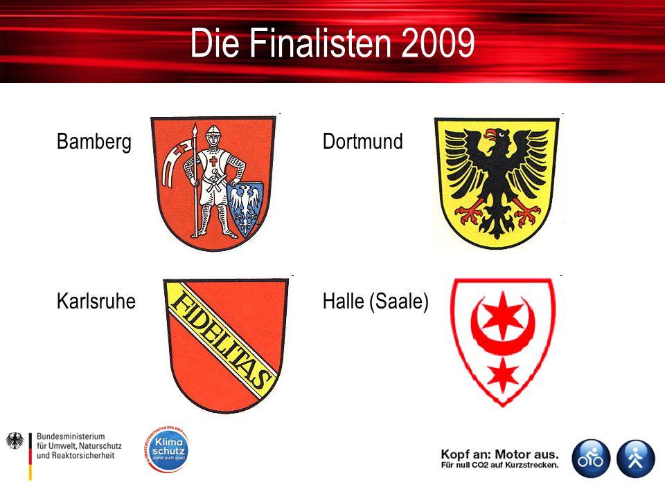 Die Finalisten 2009 BambergDortmund KarlsruheHalle (Saale)