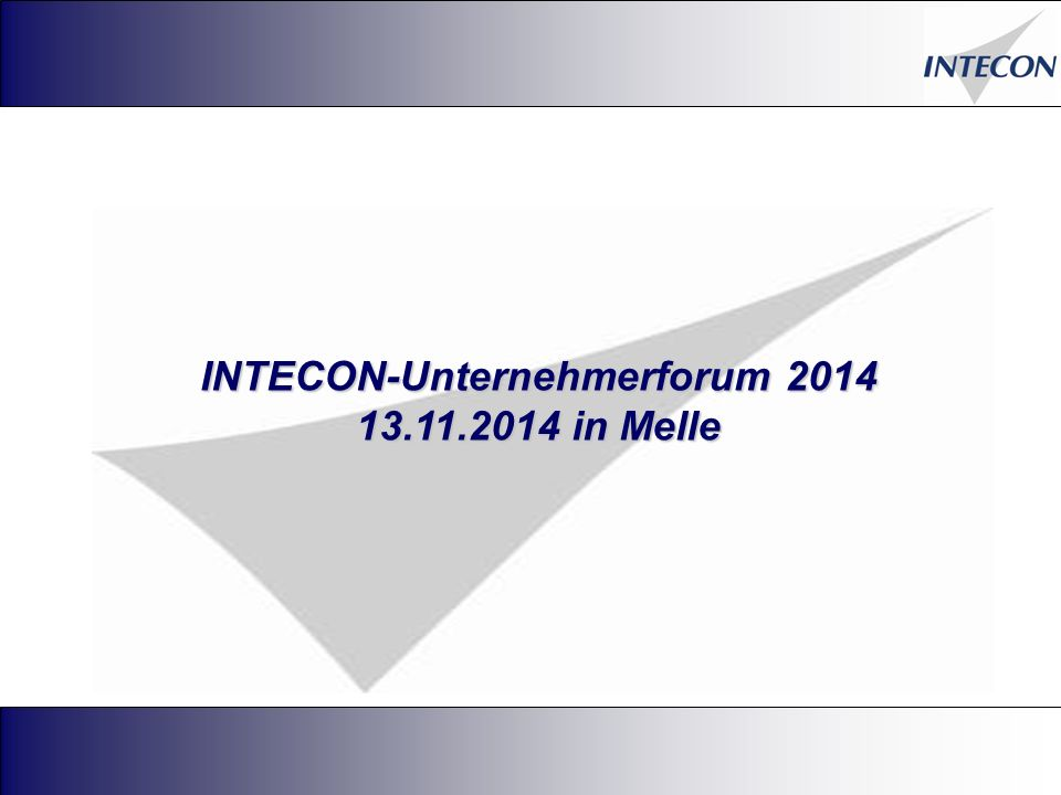 INTECON-Unternehmerforum 2014 13.11.2014 in Melle