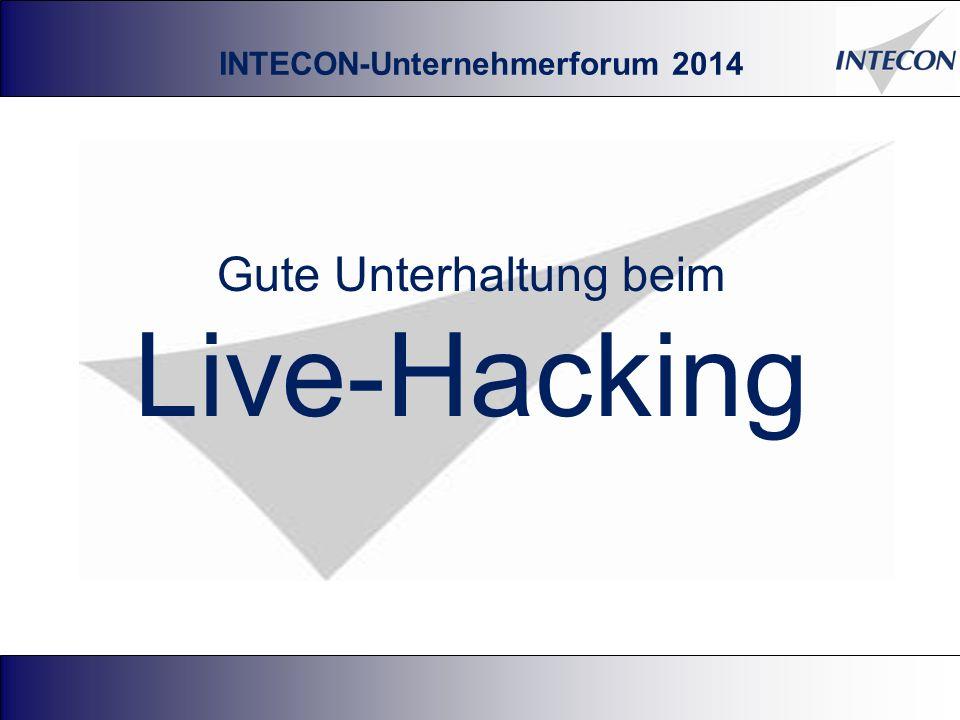 Gute Unterhaltung beim Live-Hacking 50 INTECON-Unternehmerforum 2014
