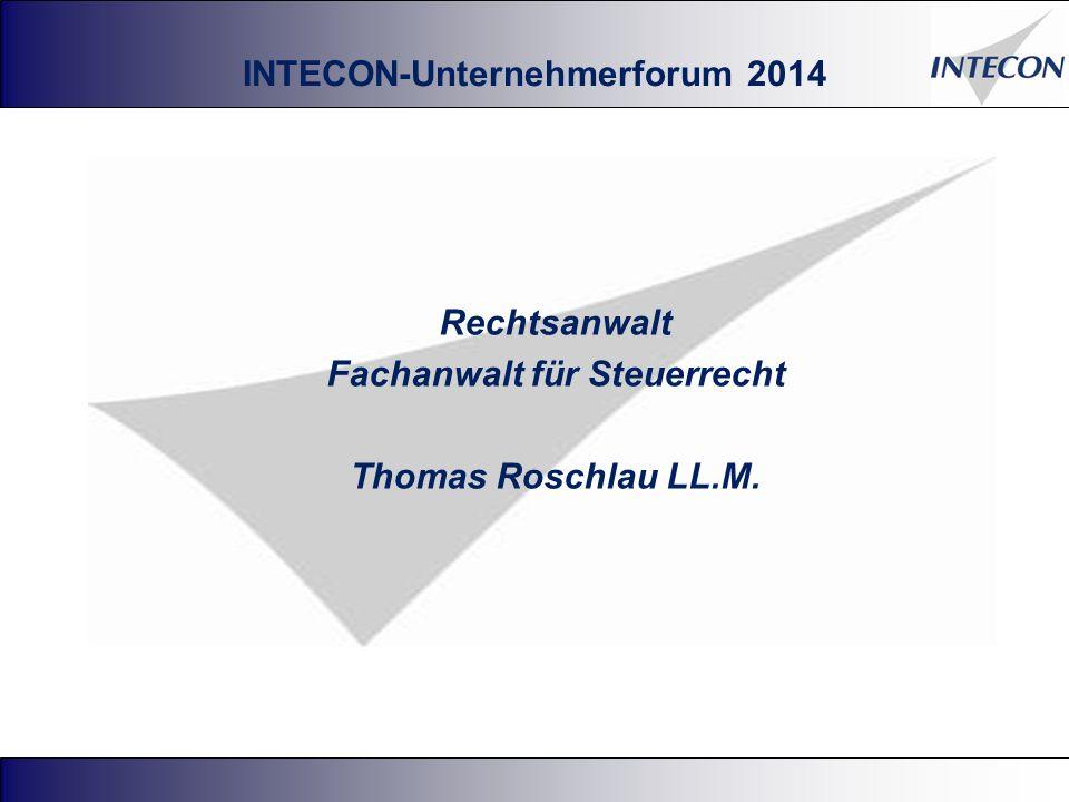 Rechtsanwalt Fachanwalt für Steuerrecht Thomas Roschlau LL.M.