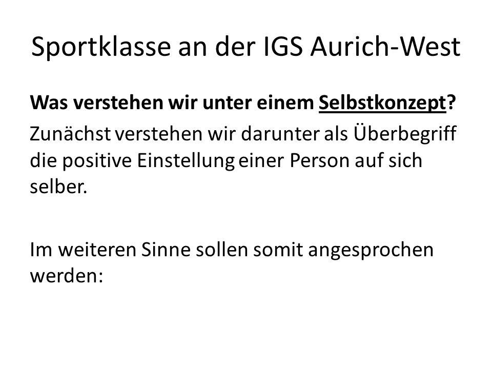 Sportklasse an der IGS Aurich-West Was verstehen wir unter einem Selbstkonzept.