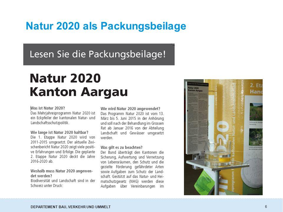 Natur 2020 als Packungsbeilage 6