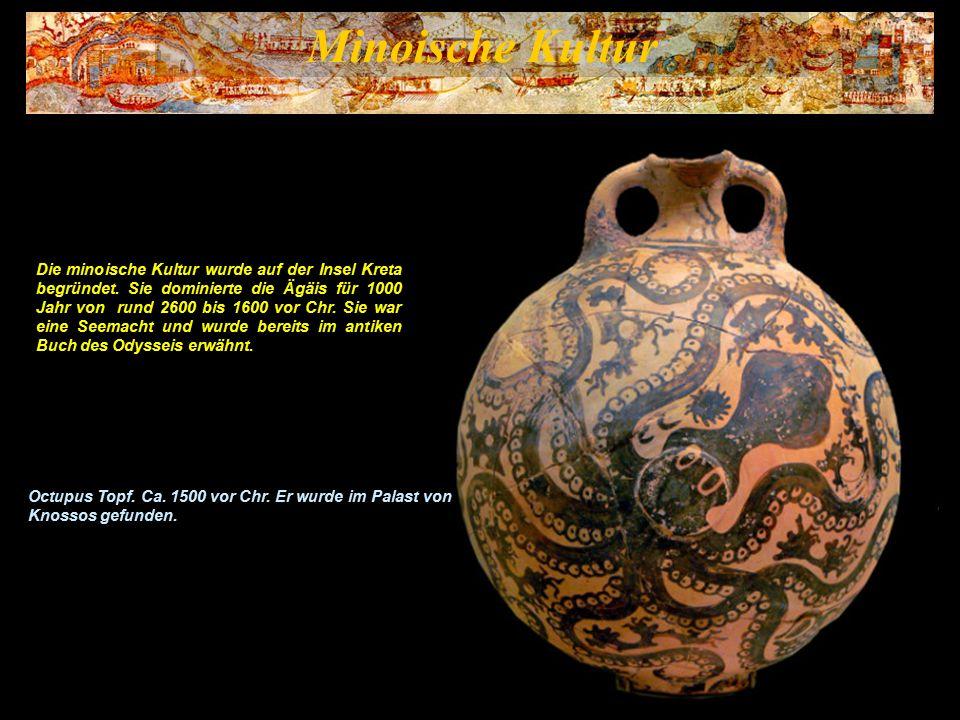 Minoische Kultur Die minoische Kultur war eine bronzezeitliche Zivilisation und somit die früheste europäische Kultur.