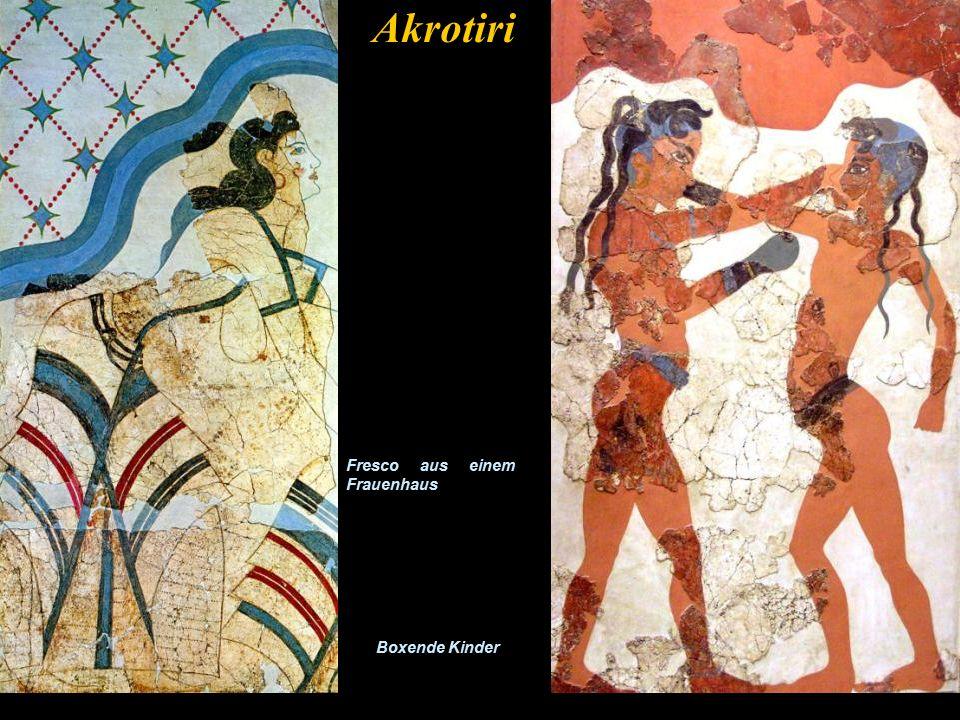 Akrotiri Ein Fresco mit Antilopen