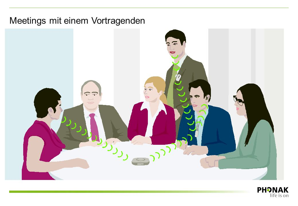 Meetings mit einem Vortragenden