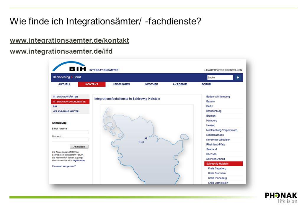 Wie finde ich Integrationsämter/ -fachdienste? www.integrationsaemter.de/kontakt www.integrationsaemter.de/ifd