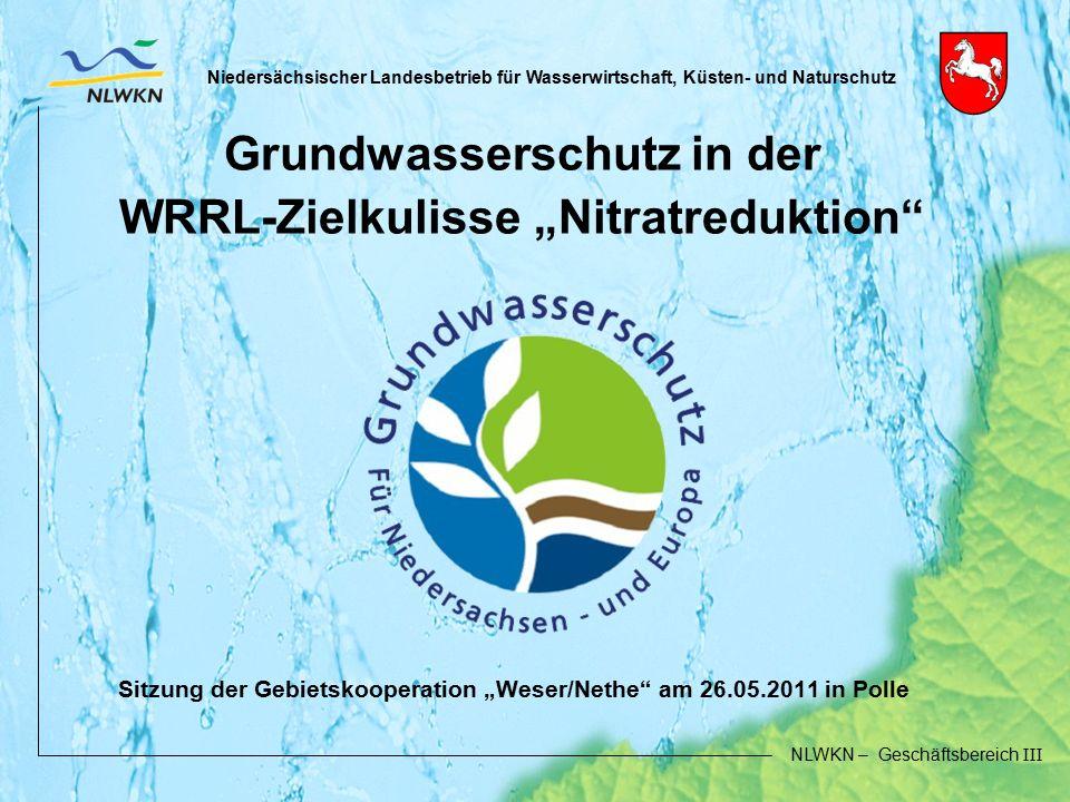 Niedersächsischer Landesbetrieb für Wasserwirtschaft, Küsten- und Naturschutz NLWKN – Geschäftsbereich III Niedersächsischer Landesbetrieb für Wasserw