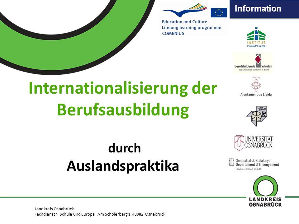 Information Landkreis Osnabrück Fachdienst XXX · Abteilung XX · Am Schölerberg 1 · 49082 Osnabrück TITEL DER PRÄSENTATION Unterzeile Titel Präsentatio