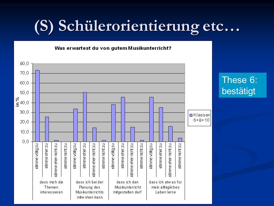(S) Schülerorientierung etc… These 6: bestätigt