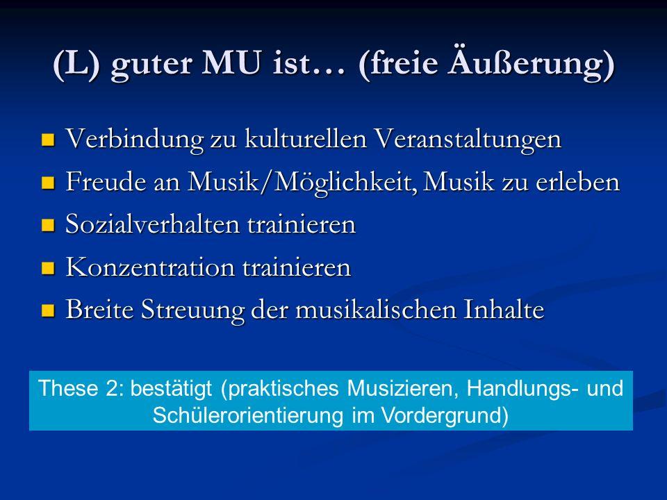 Verbindung zu kulturellen Veranstaltungen Verbindung zu kulturellen Veranstaltungen Freude an Musik/Möglichkeit, Musik zu erleben Freude an Musik/Mögl
