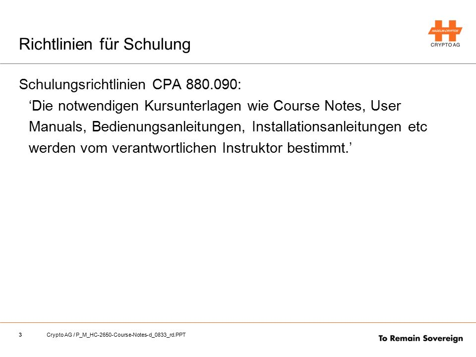 14Crypto AG / P_M_HC-2650-Course-Notes-d_0833_rd.PPT 8_Terminal-Programm
