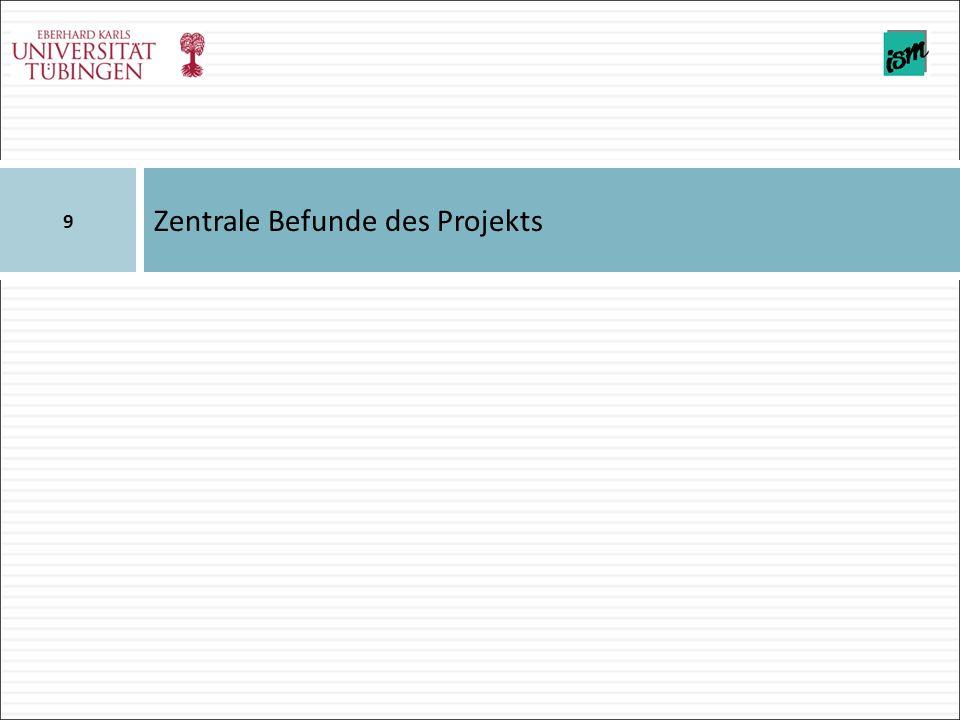 Zentrale Befunde des Projekts 9