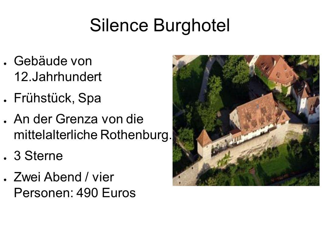 Silence Burghotel ● Gebäude von 12.Jahrhundert ● Frühstück, Spa ● An der Grenza von die mittelalterliche Rothenburg.
