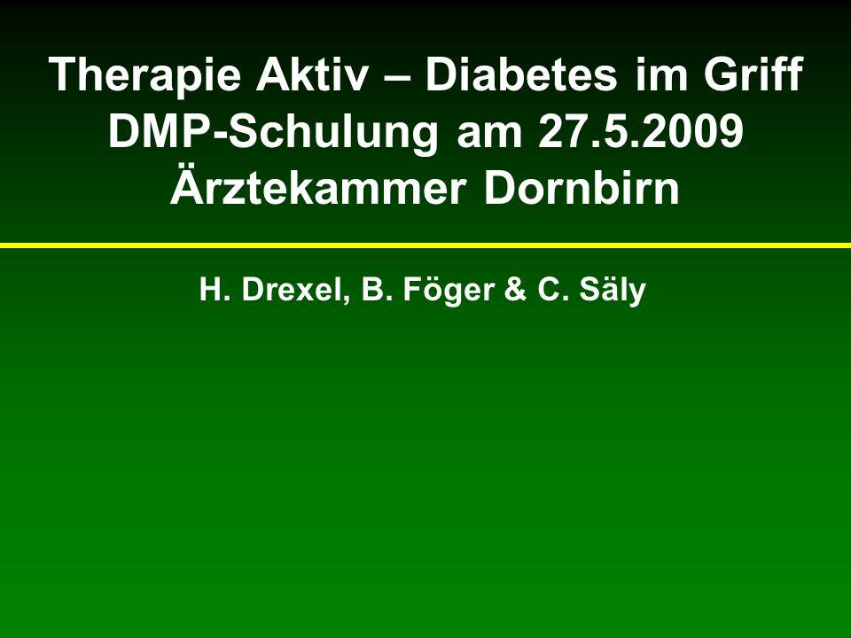 LIFE: Diabetes-Substudie 1195 Patienten mit Diabetes, Hypertonie, und linksventrikulärer Hypertrophie Randomisierung: –Losartan vs.