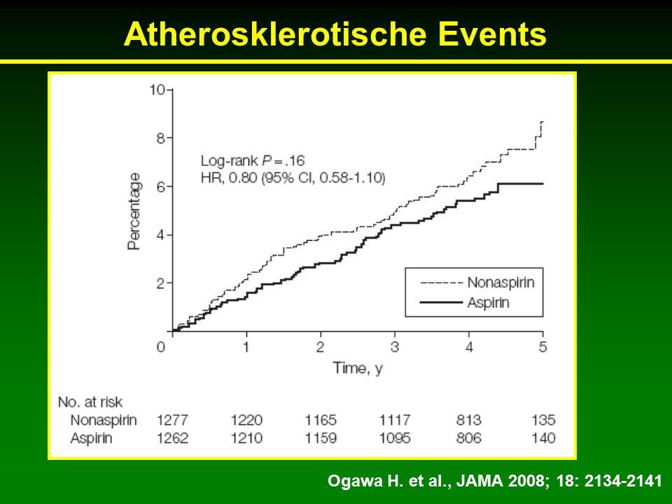 Ogawa H. et al., JAMA 2008; 18: 2134-2141 Atherosklerotische Events