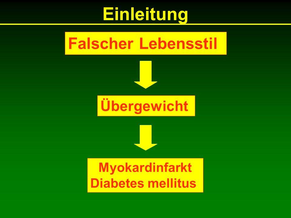 Einleitung Falscher Lebensstil Übergewicht Myokardinfarkt Diabetes mellitus