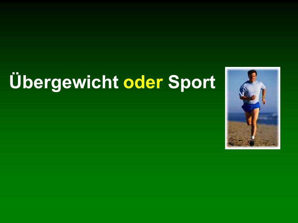 Übergewicht oder Sport