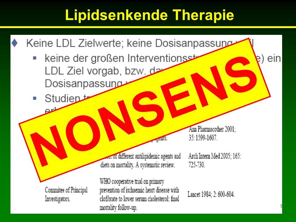 Lipidsenkende Therapie NONSENS
