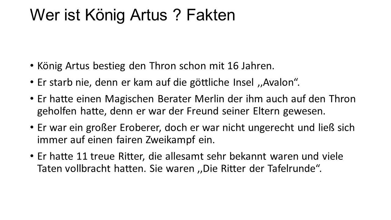 Wer ist König Artus .