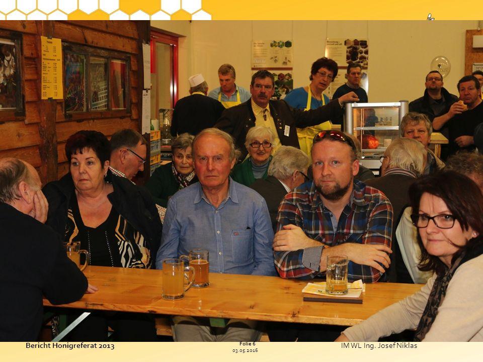 03.05.2016 Folie 6 Bericht Honigreferat 2013IM WL Ing.
