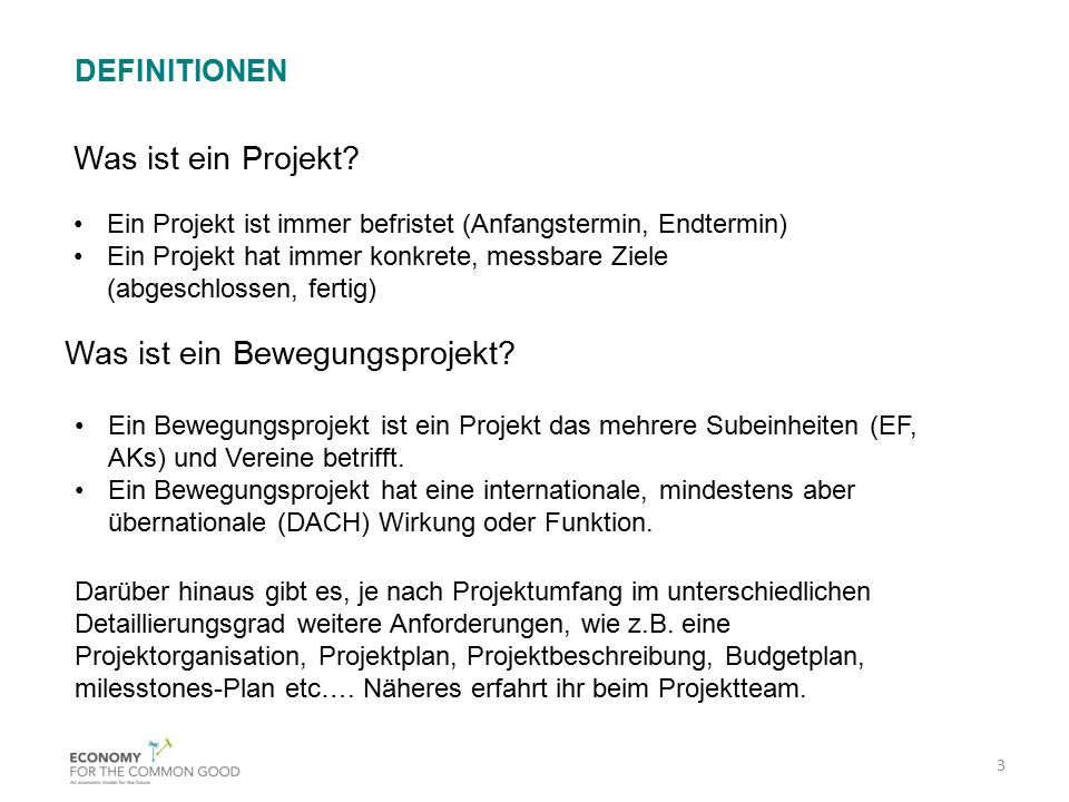 Ein Projekt ist immer befristet (Anfangstermin, Endtermin) Ein Projekt hat immer konkrete, messbare Ziele (abgeschlossen, fertig) Was ist ein Projekt?