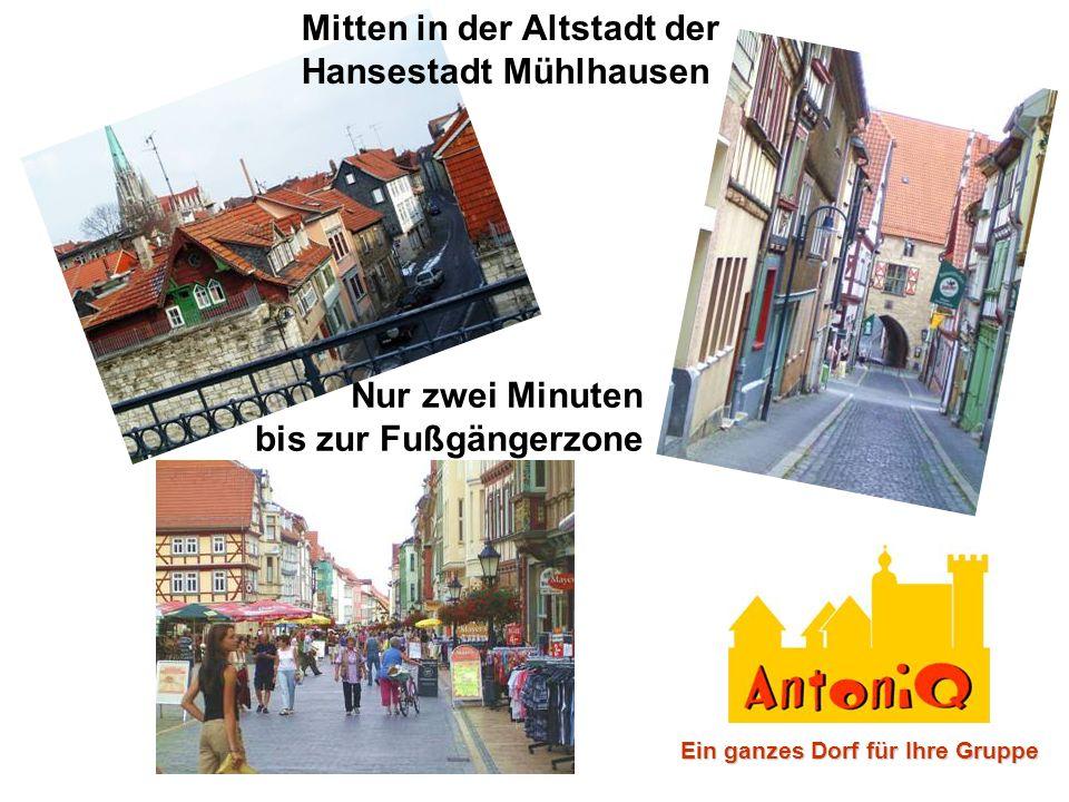 Nur zwei Minuten bis zur Fußgängerzone Mitten in der Altstadt der Hansestadt Mühlhausen