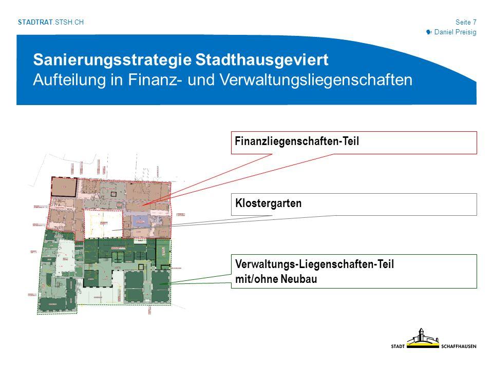Seite 18 STADTRAT.STSH.CH Verwaltungs- liegenschaften-Teil mit Neubau 12.7 Mio.