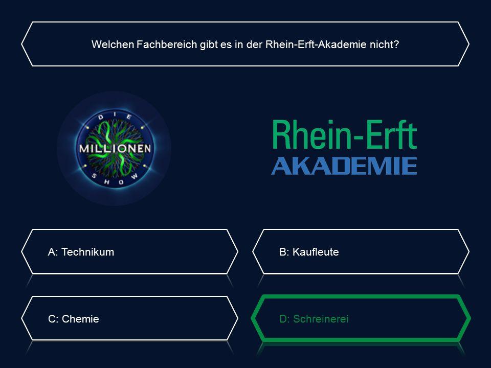 Welchen Fachbereich gibt es in der Rhein-Erft-Akademie nicht