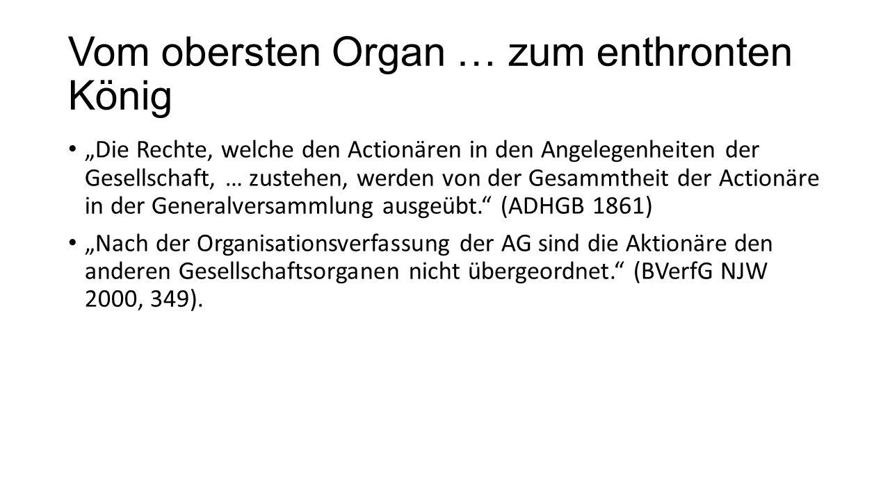 """DAI-Vorschlag: § 245 II AktG-E """"Ein Aktionär, der die Anfechtung mit einem Verstoß gegen die Meldepflichten nach den §§ 21 Abs."""