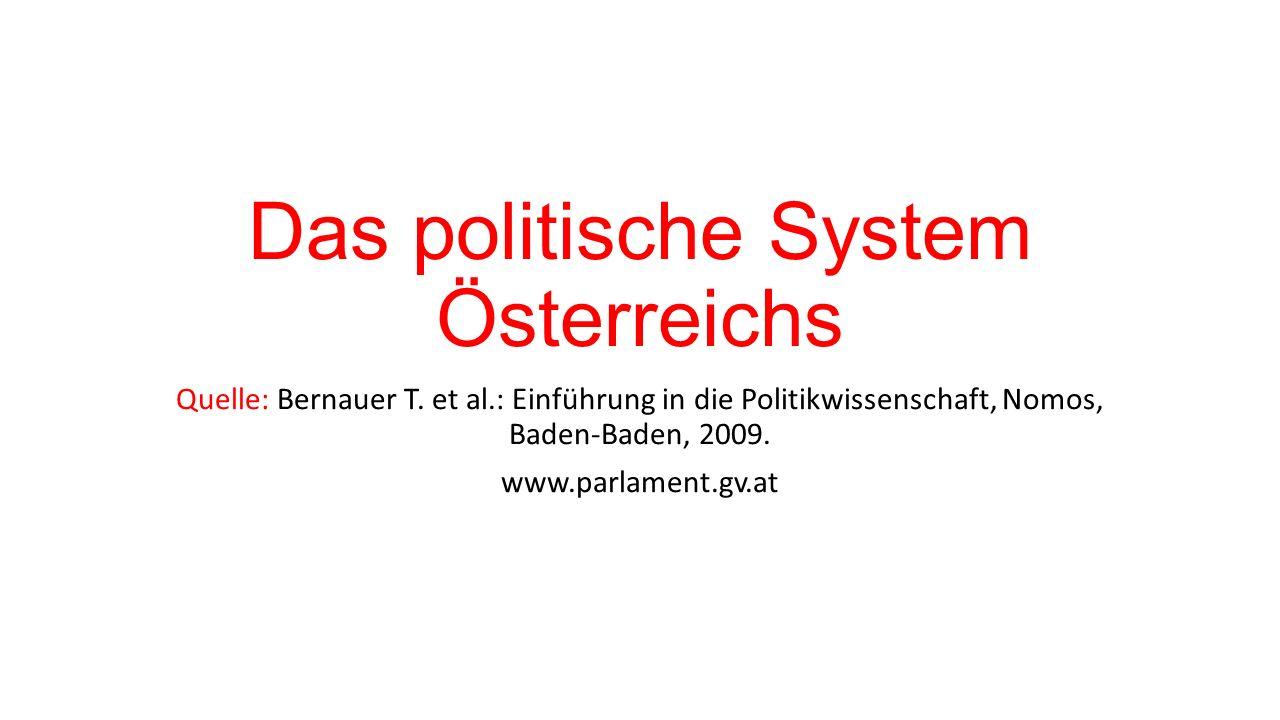 Das politische System Österreichs Quelle: Bernauer T.