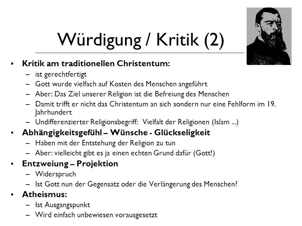 Quellenverzeichnis A.Schmidt: www.buber.de/christl/unterrichtsmaterialien/feuerbach.html R.