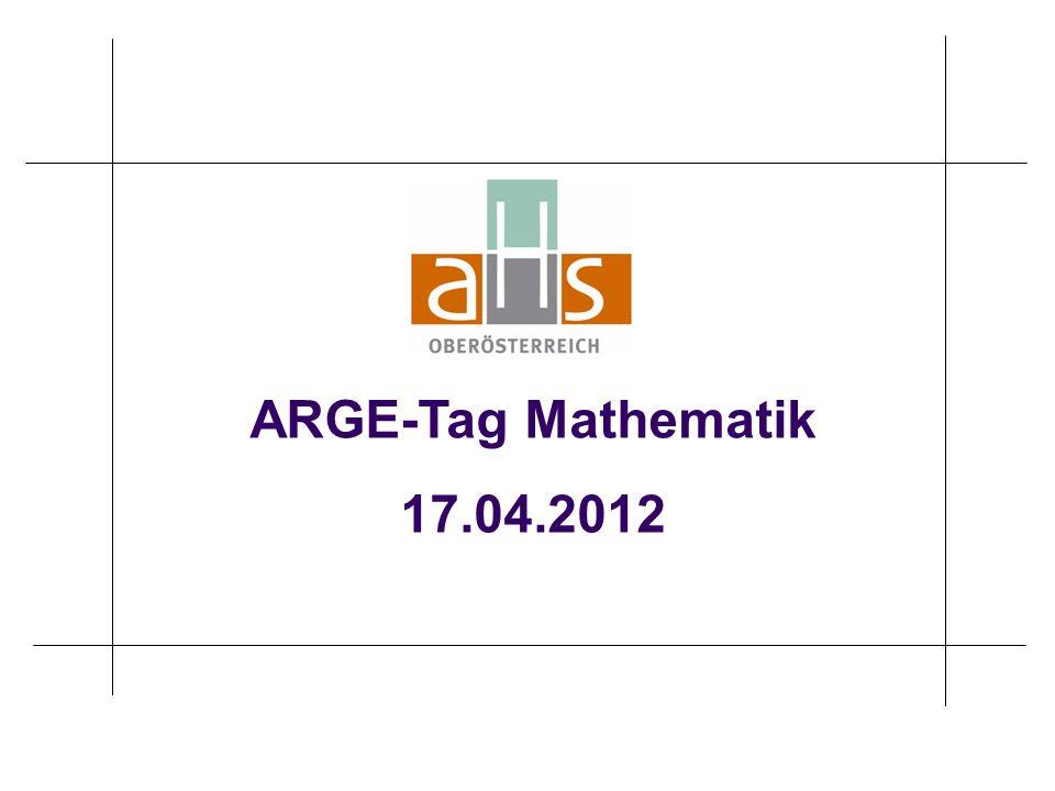 ARGE-Tag Mathematik 17.04.2012
