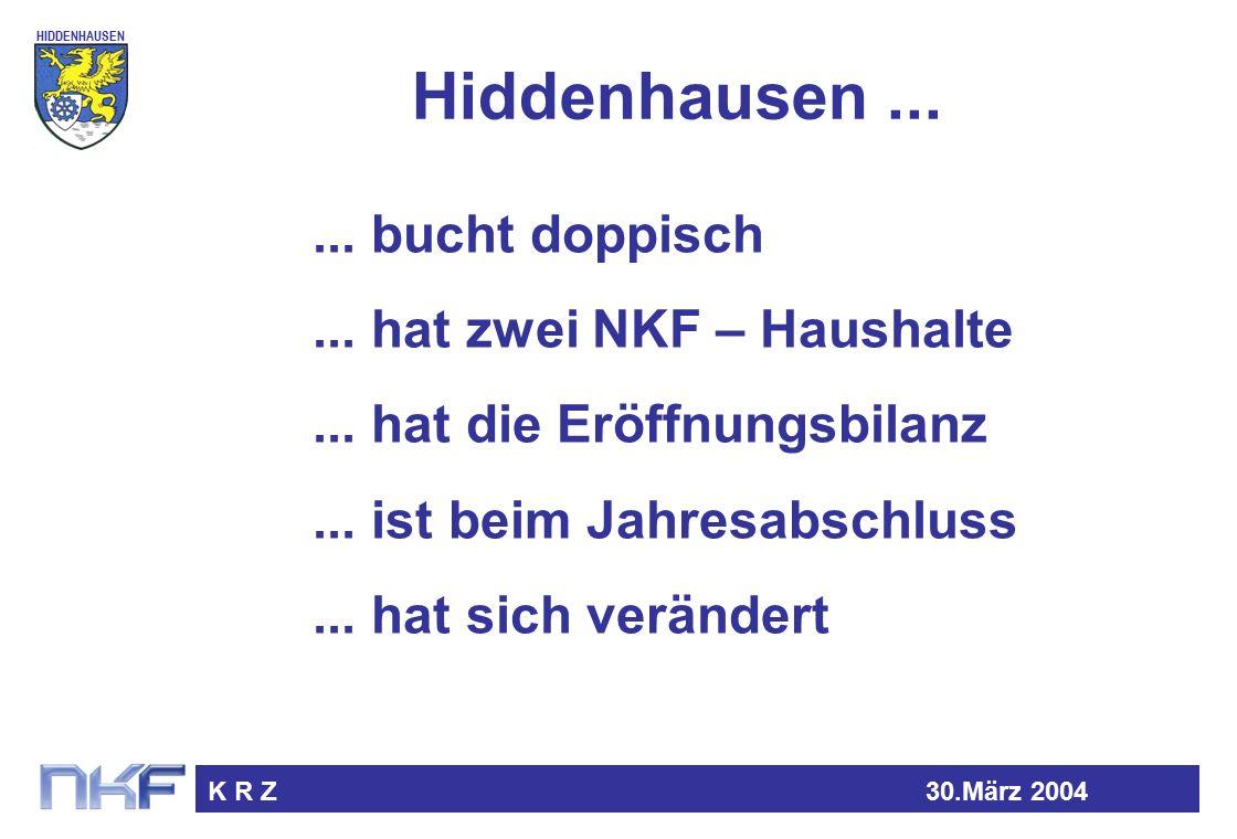 HIDDENHAUSEN K R Z30.März 2004 Hiddenhausen...... bucht doppisch...