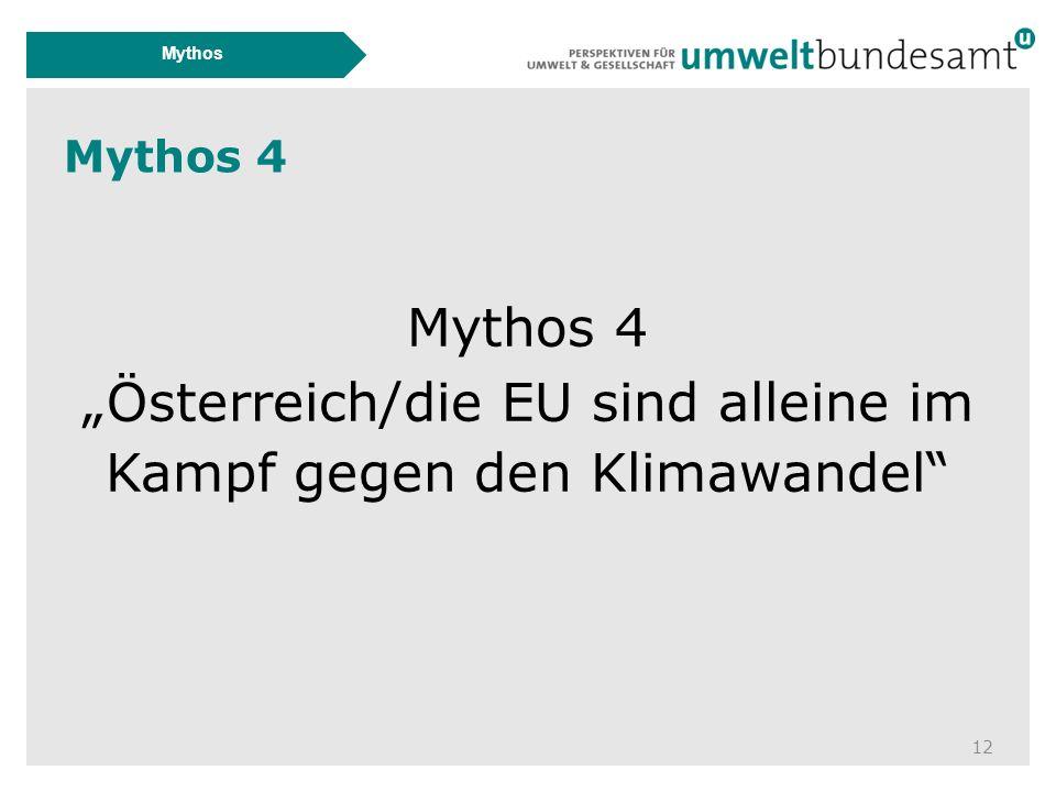 """Mythos 4 12 Mythos Mythos 4 """"Österreich/die EU sind alleine im Kampf gegen den Klimawandel"""