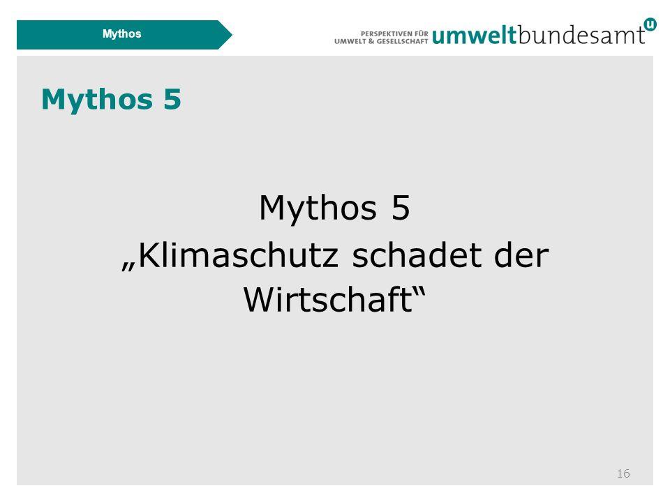 """Mythos 5 16 Mythos Mythos 5 """"Klimaschutz schadet der Wirtschaft"""