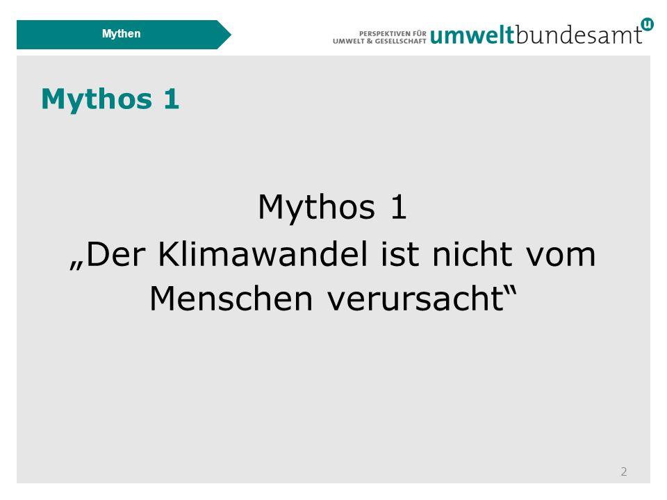 """Mythos 1 2 Mythen Mythos 1 """"Der Klimawandel ist nicht vom Menschen verursacht"""