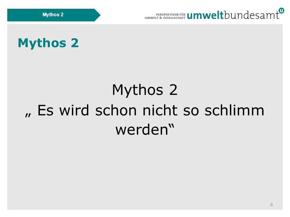 """Mythos 2 4 """" Es wird schon nicht so schlimm werden"""