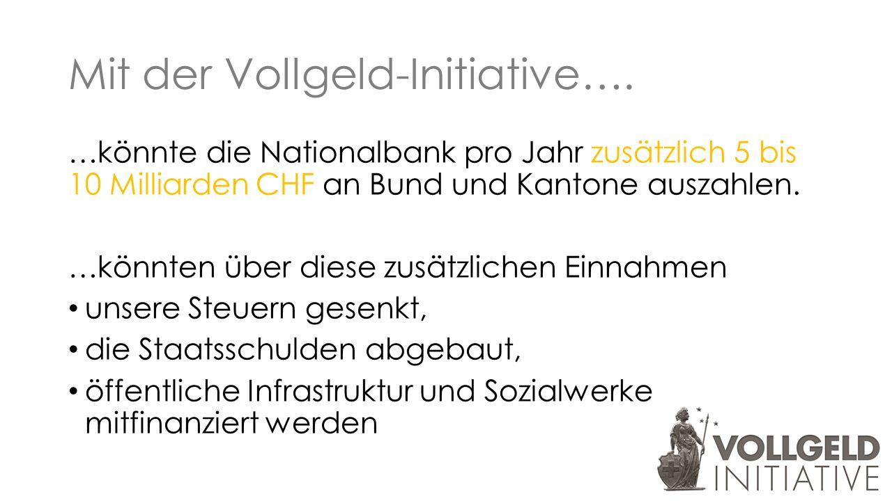 Mit der Vollgeld-Initiative….