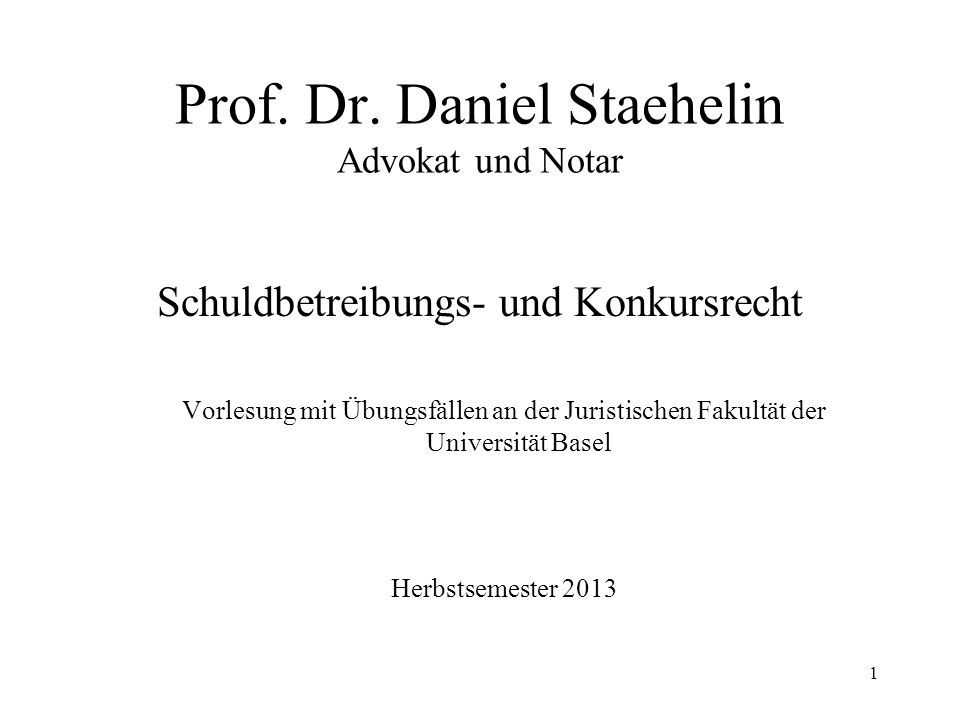 101 XI.Materielles Konkursrecht 1.