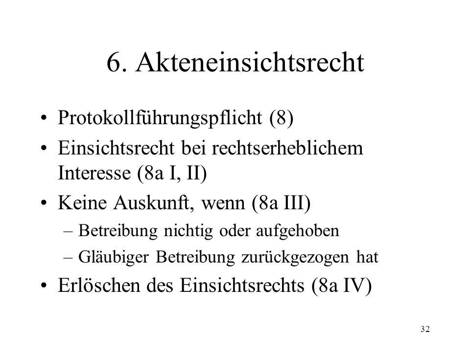 31 5. Kosten Gebührenarten GebVSchKG Träger der Betreibungskosten (68) Träger der Parteikosten (27) Unentgeltliche Rechtspflege