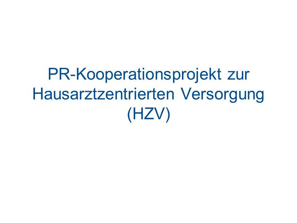 PR-Kooperationsprojekt zur Hausarztzentrierten Versorgung (HZV)
