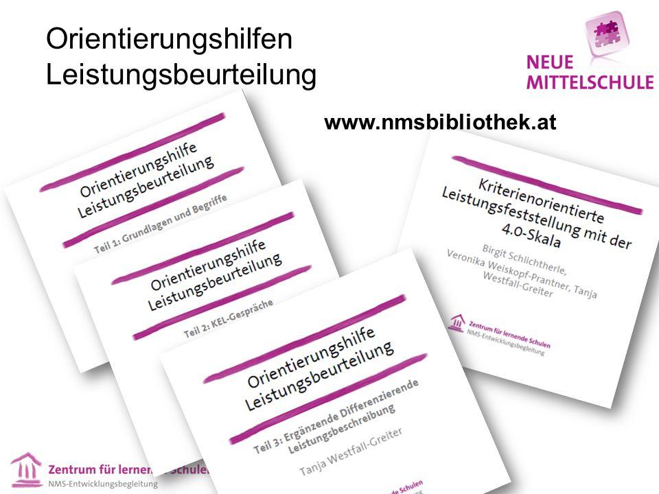 Orientierungshilfen Leistungsbeurteilung www.nmsbibliothek.at