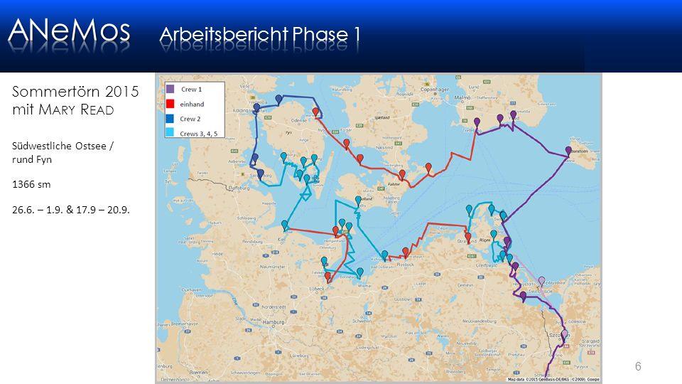 6 Sommertörn 2015 mit M ARY R EAD Südwestliche Ostsee / rund Fyn 1366 sm 26.6.