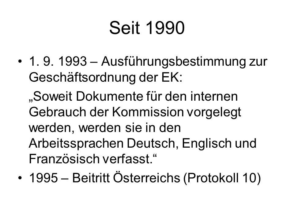 Seit 1990 1. 9.