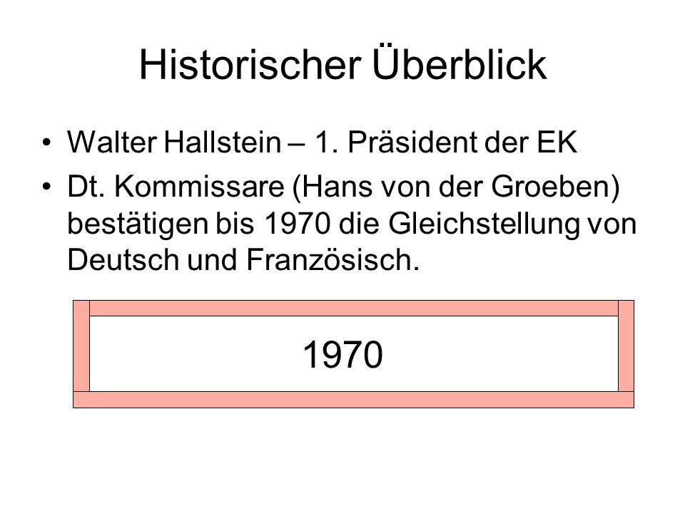 Historischer Überblick Walter Hallstein – 1. Präsident der EK Dt.