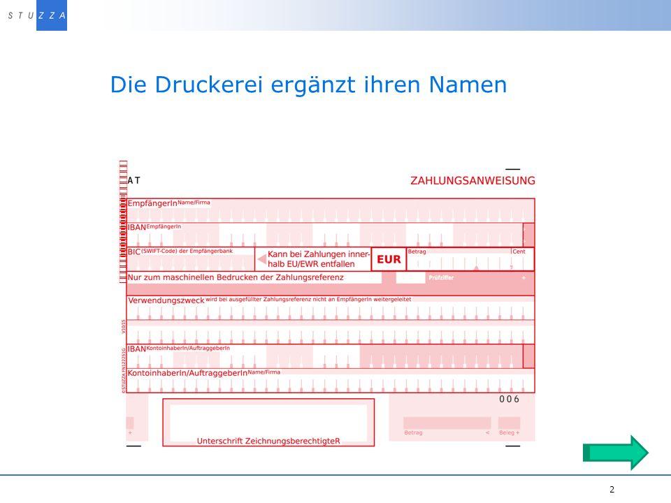 Vortragstitel/Projekt 2 Die Druckerei ergänzt ihren Namen Druckerei Name FN12345