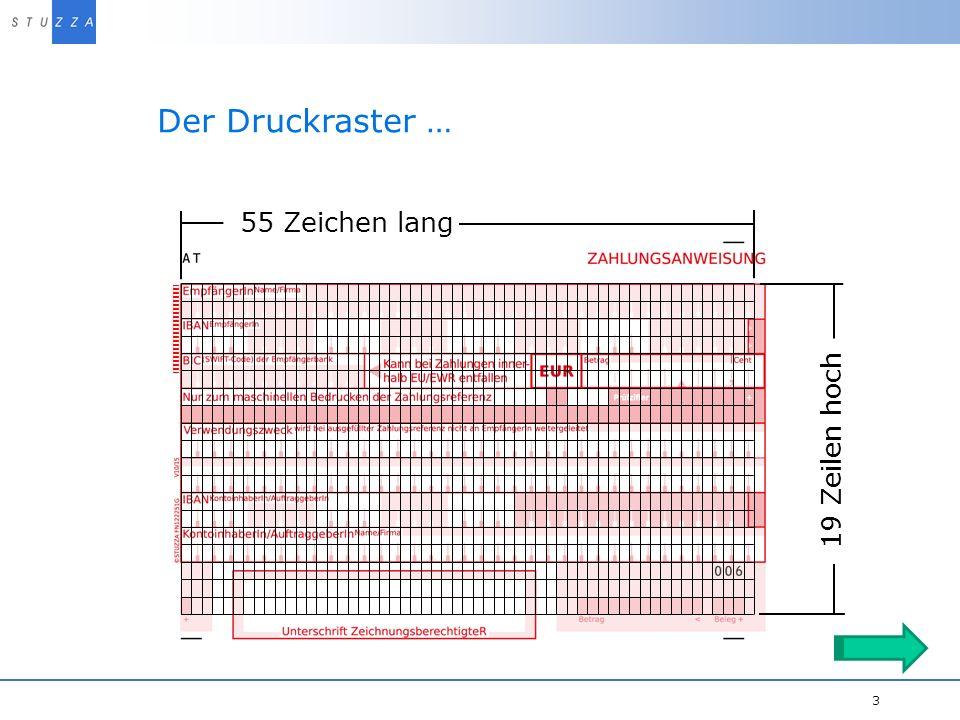 Vortragstitel/Projekt 3 Der Druckraster … Druckerei Name FN12345 55 Zeichen lang 19 Zeilen hoch