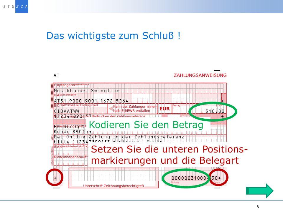 Vortragstitel/Projekt 9..und mit der richtigen Zugabe..
